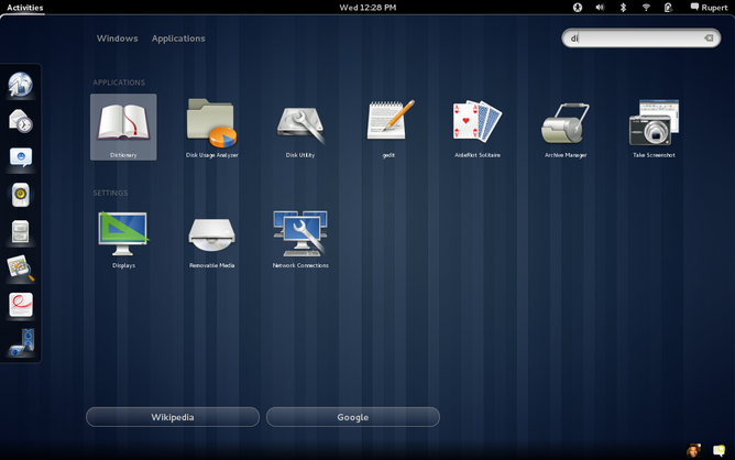 Файл:GNOME Shell 3.0 (2011, 03) showing search function in overview mode.png