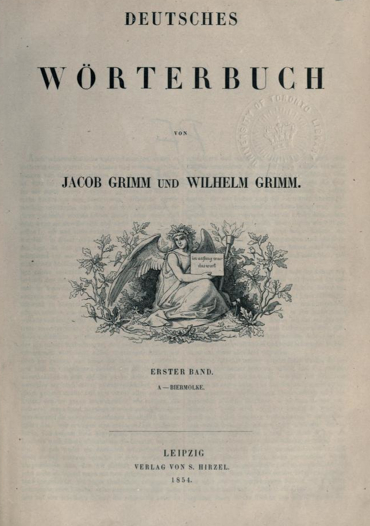 The Deutsches Worterbuch (1854) by the Brothers Grimm helped to standardize German orthography. German dictionary.jpg