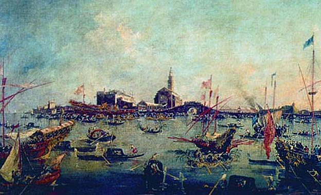 Празднества венецианцев в день переноса мощей св. Николая. Гвидо Рени (1575—1642), Лувр