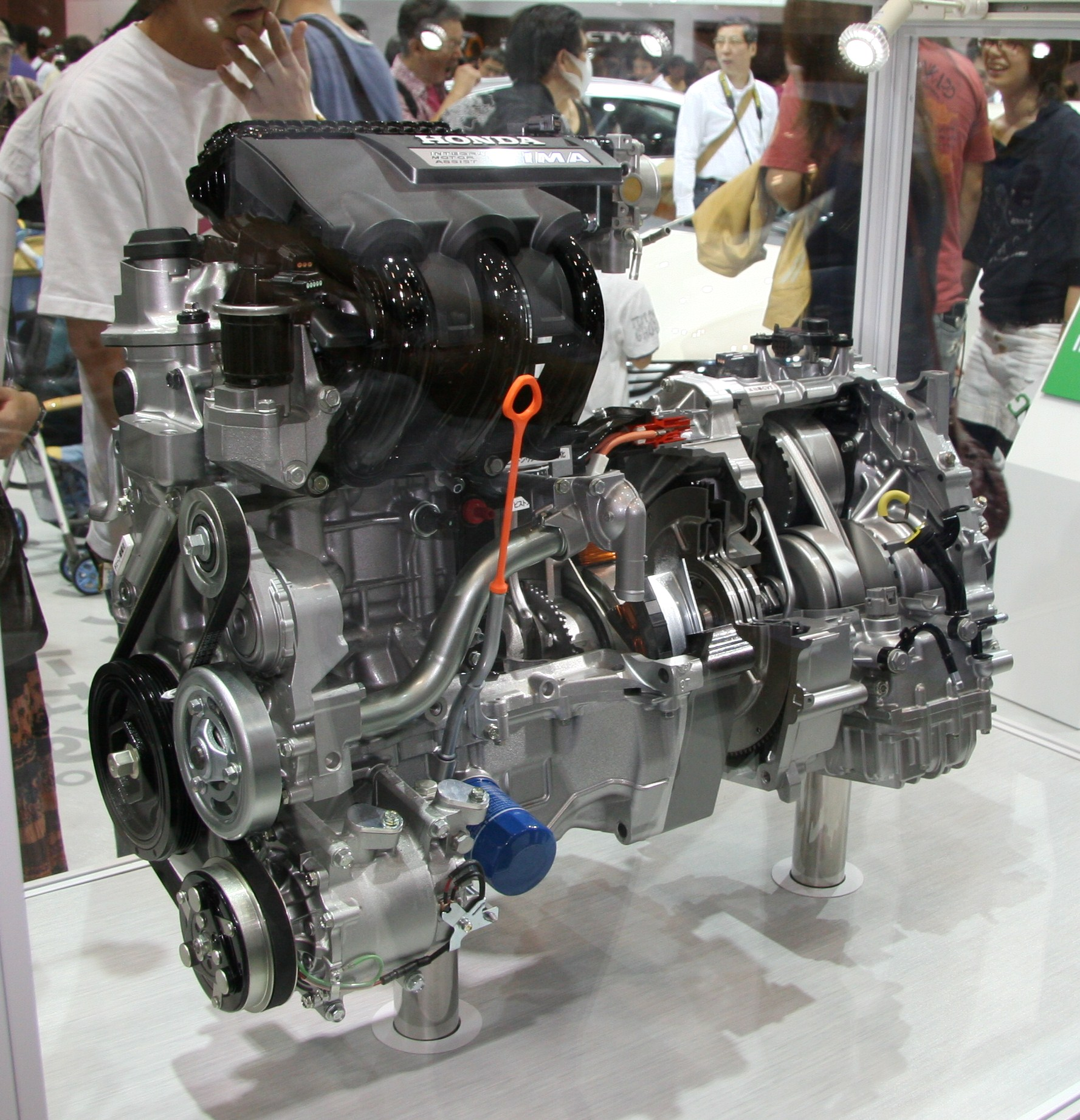 Honda Insight Wikipedia Motor Stop Start Circuit Second Generation Ima Powertrain Engine And Transmission