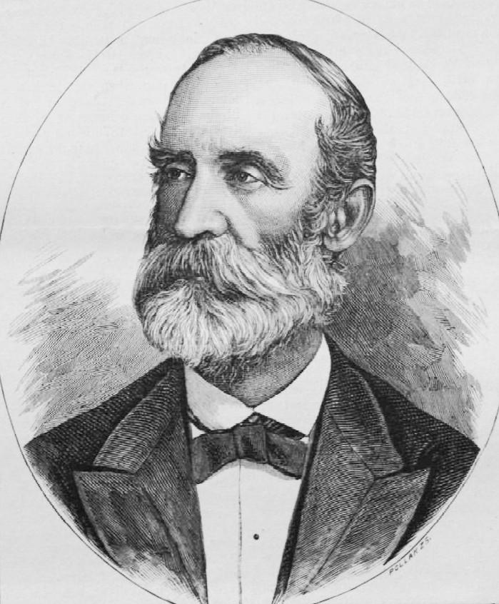 Hunfalvy János portréja. Pollák Zsigmond metszete (1888)