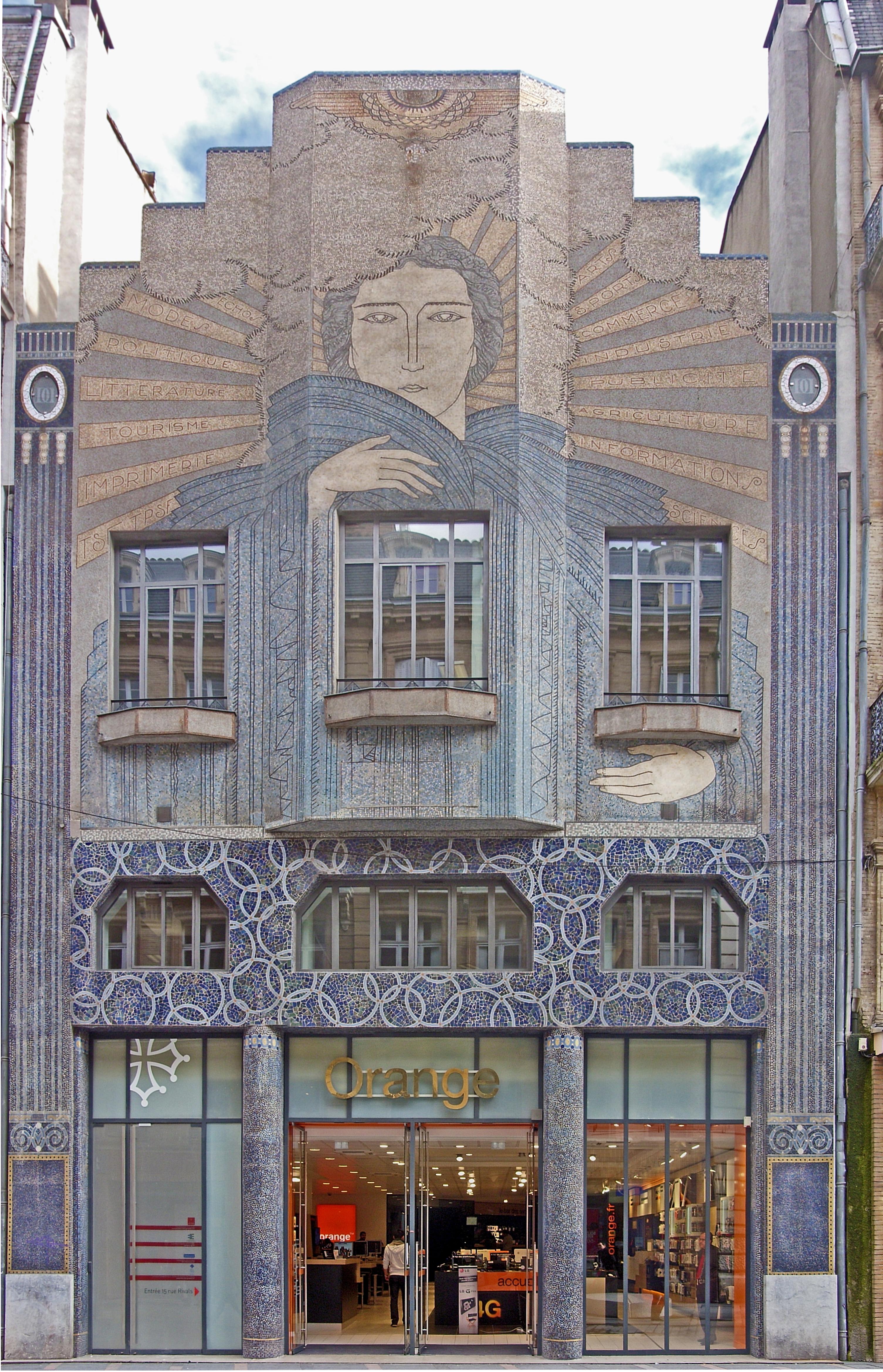 l 39 immeuble arts d co de la d p che du midi toulouse france. Black Bedroom Furniture Sets. Home Design Ideas