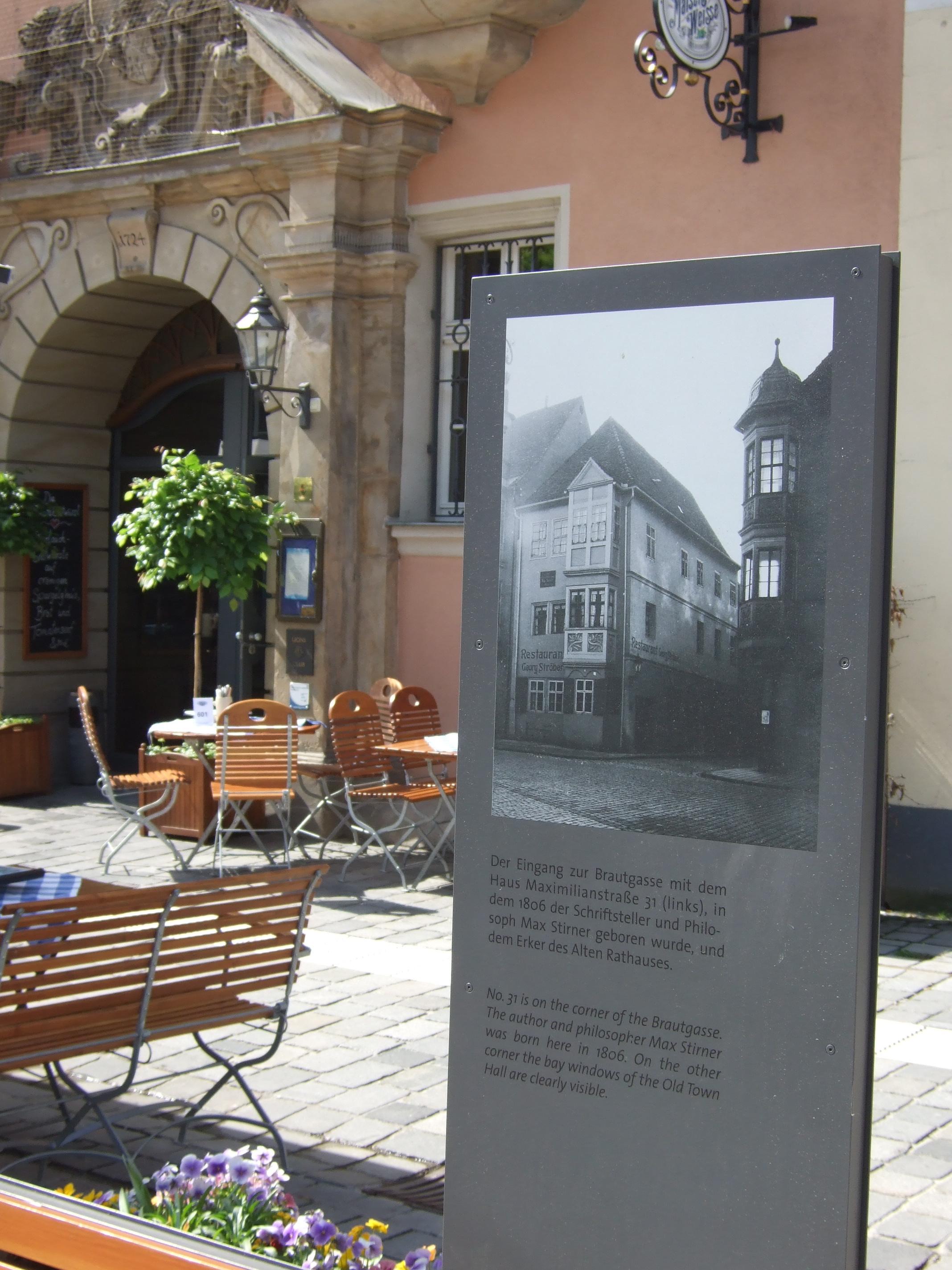 Attractive File:Infostele Stirnerhaus Bayreuth.JPG