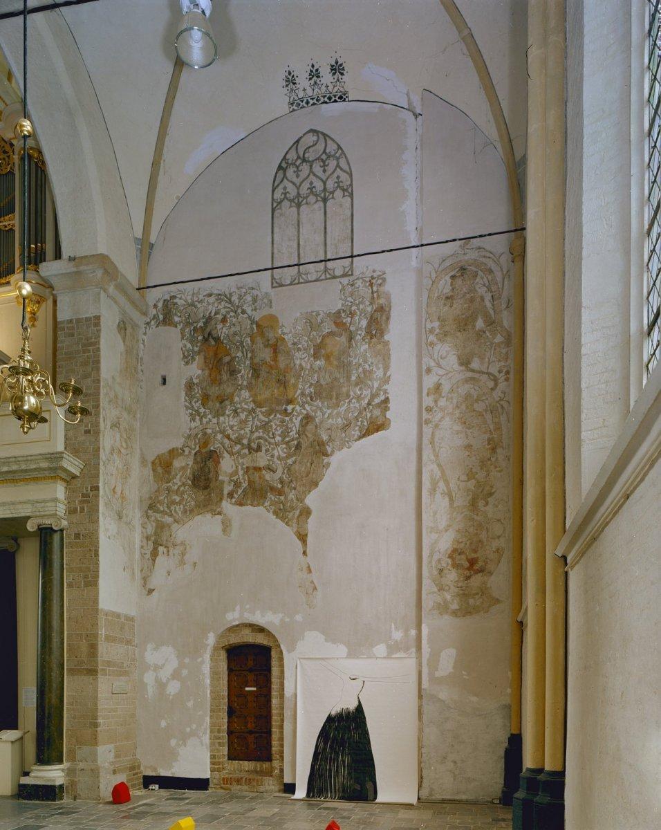 File:Interieur, westwand, noordelijk zijschip,wandschildering ...