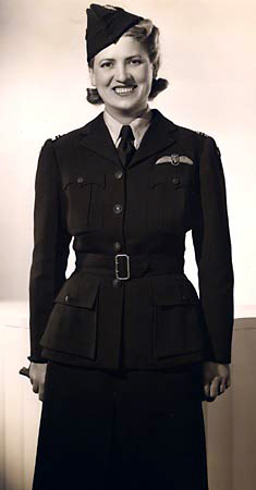 Jacqueline Cochran standing in uniform Wikimedia Commons