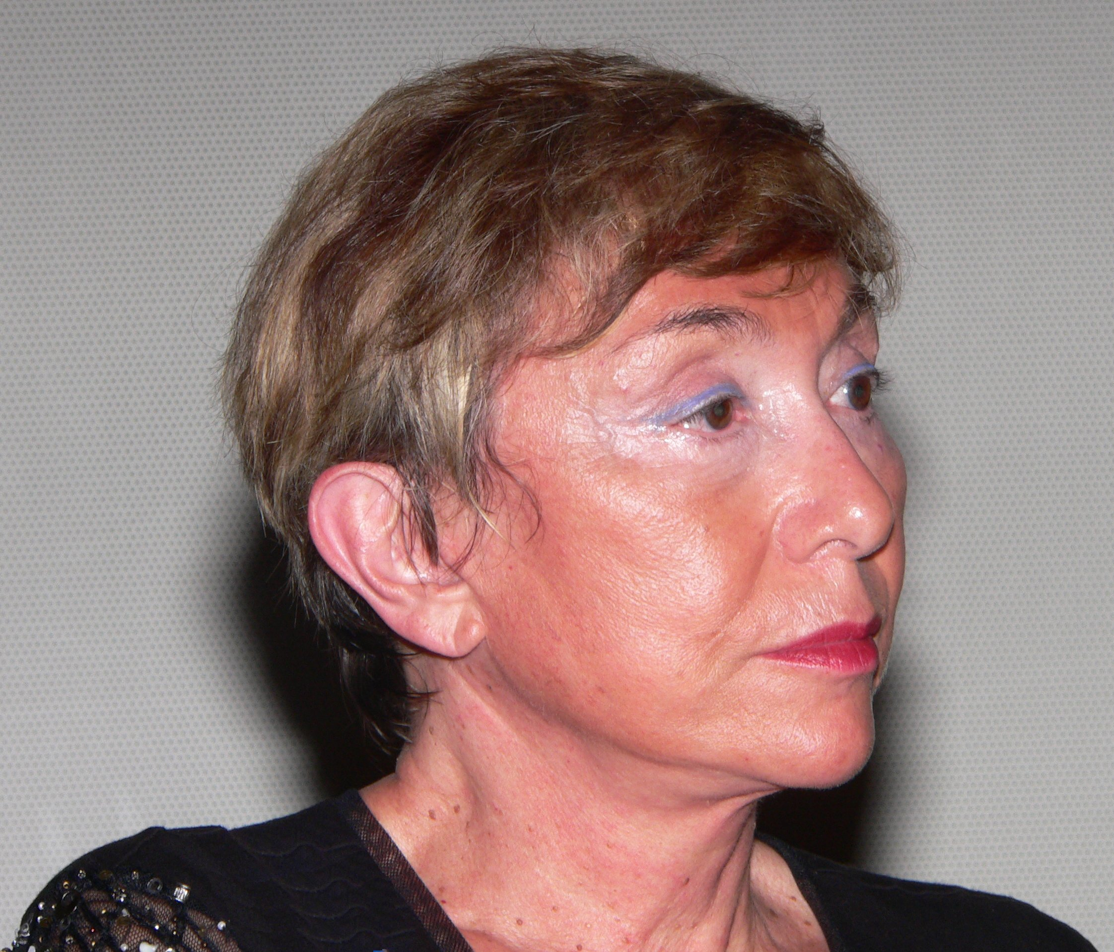 Julia Kristeva  - 2019 Grey hair & alternative hair style.