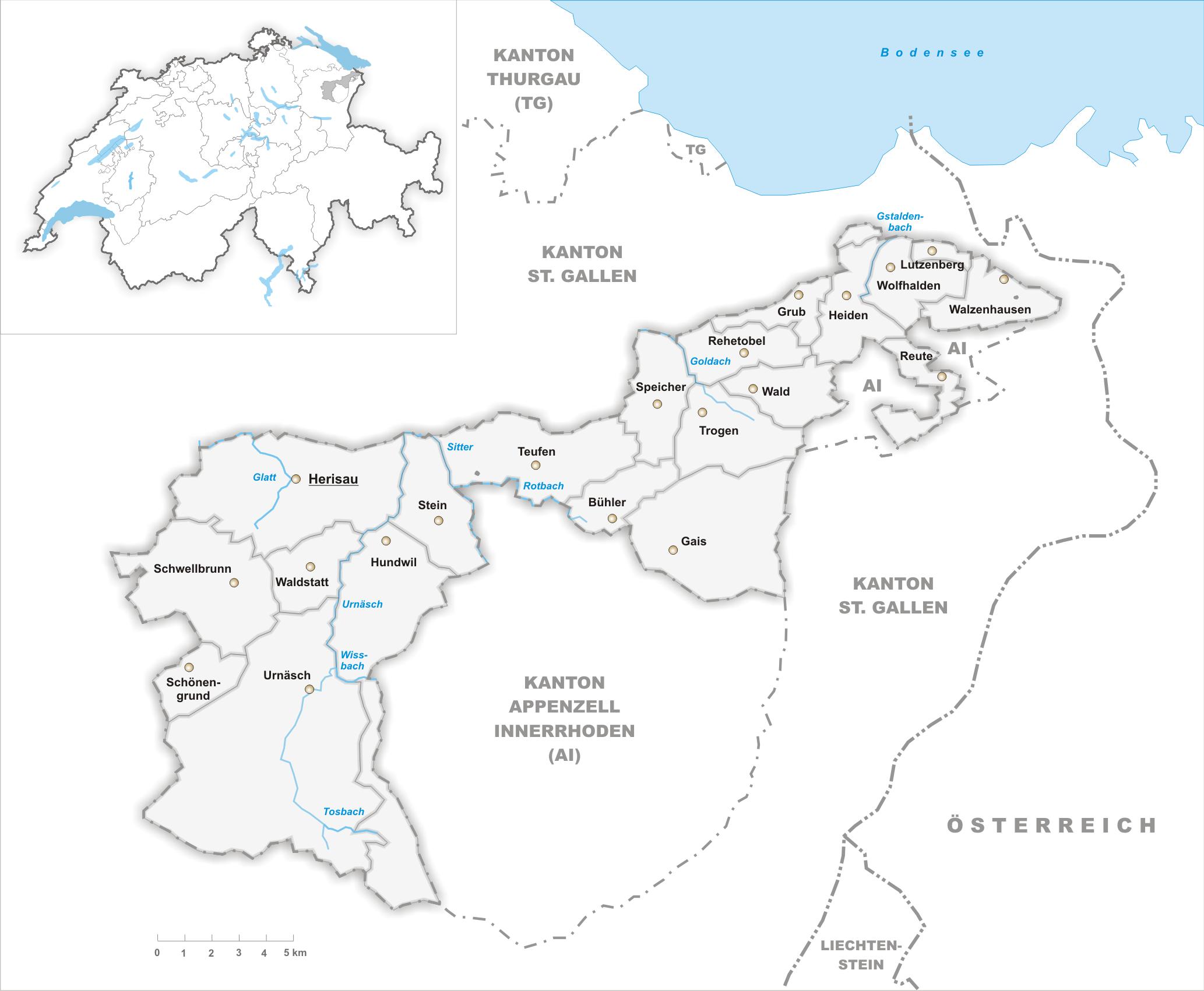 FileKarte Gemeinden des Kantons Appenzell Ausserrhoden 2007png