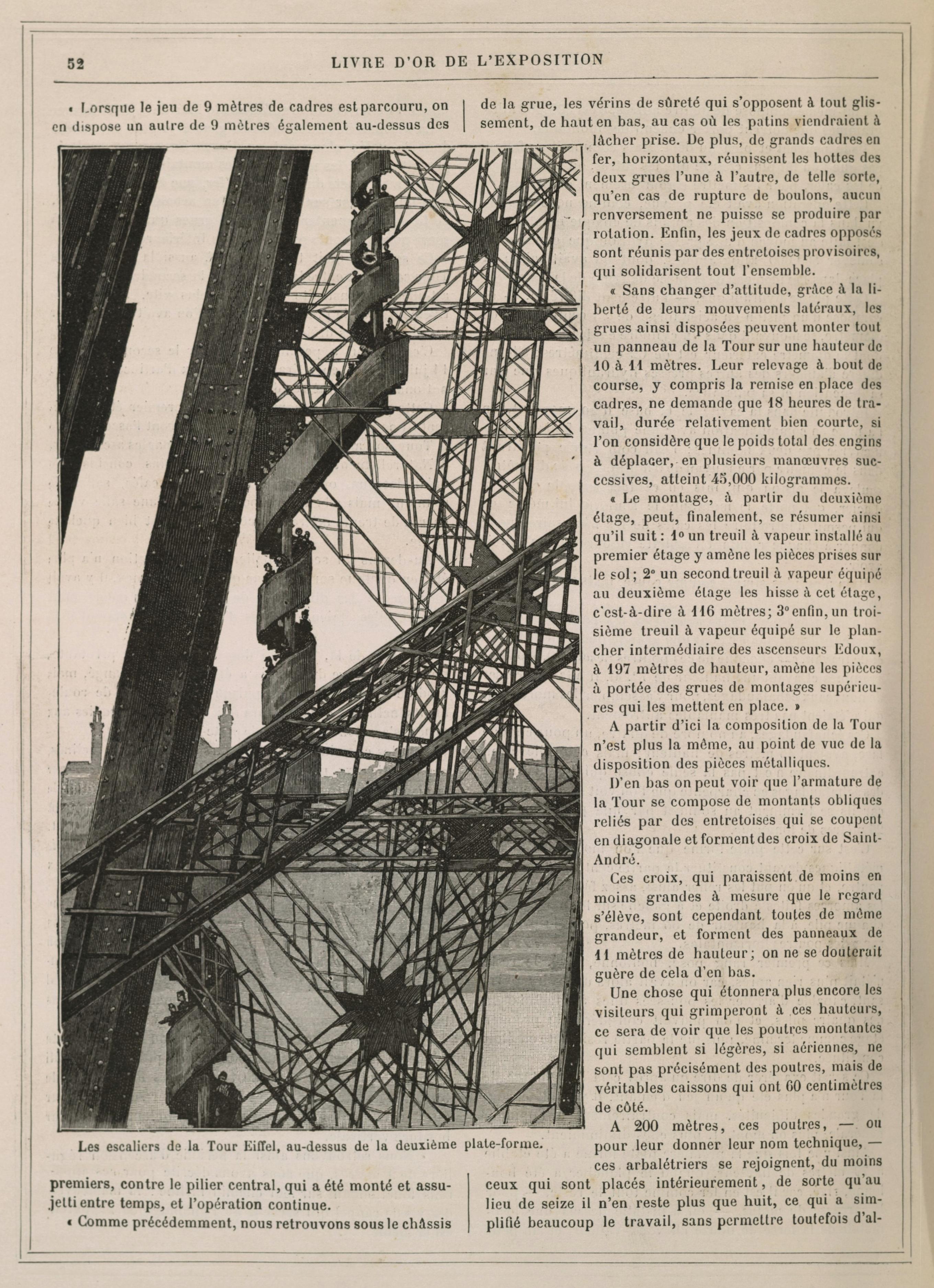File les escaliers de la tour eiffel au dessus de la deuxi me plate - Escalier de la tour eiffel ...