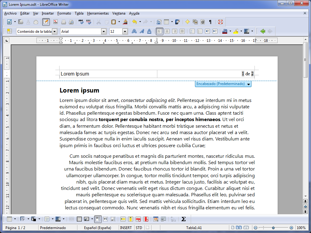 File libreoffice writer en espa ol sobre windows wikimedia commons - Openoffice or libre office ...