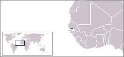 Location of Gambia