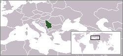 Location of Serbia