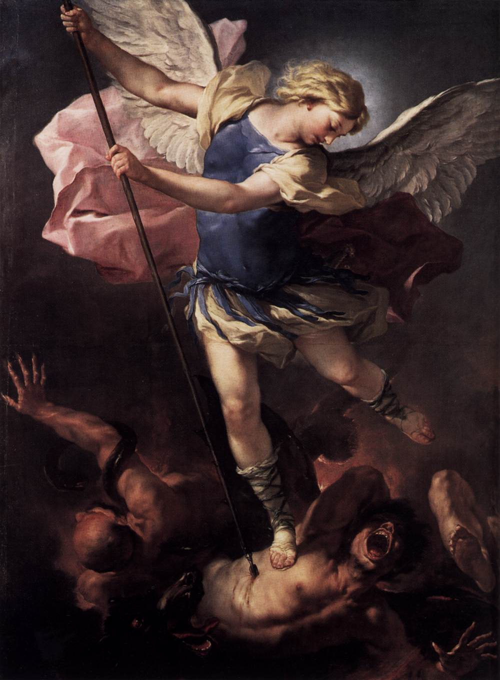 St. Michael Overwhelming the Demon, 1518 Giclee Print by Raphael ...