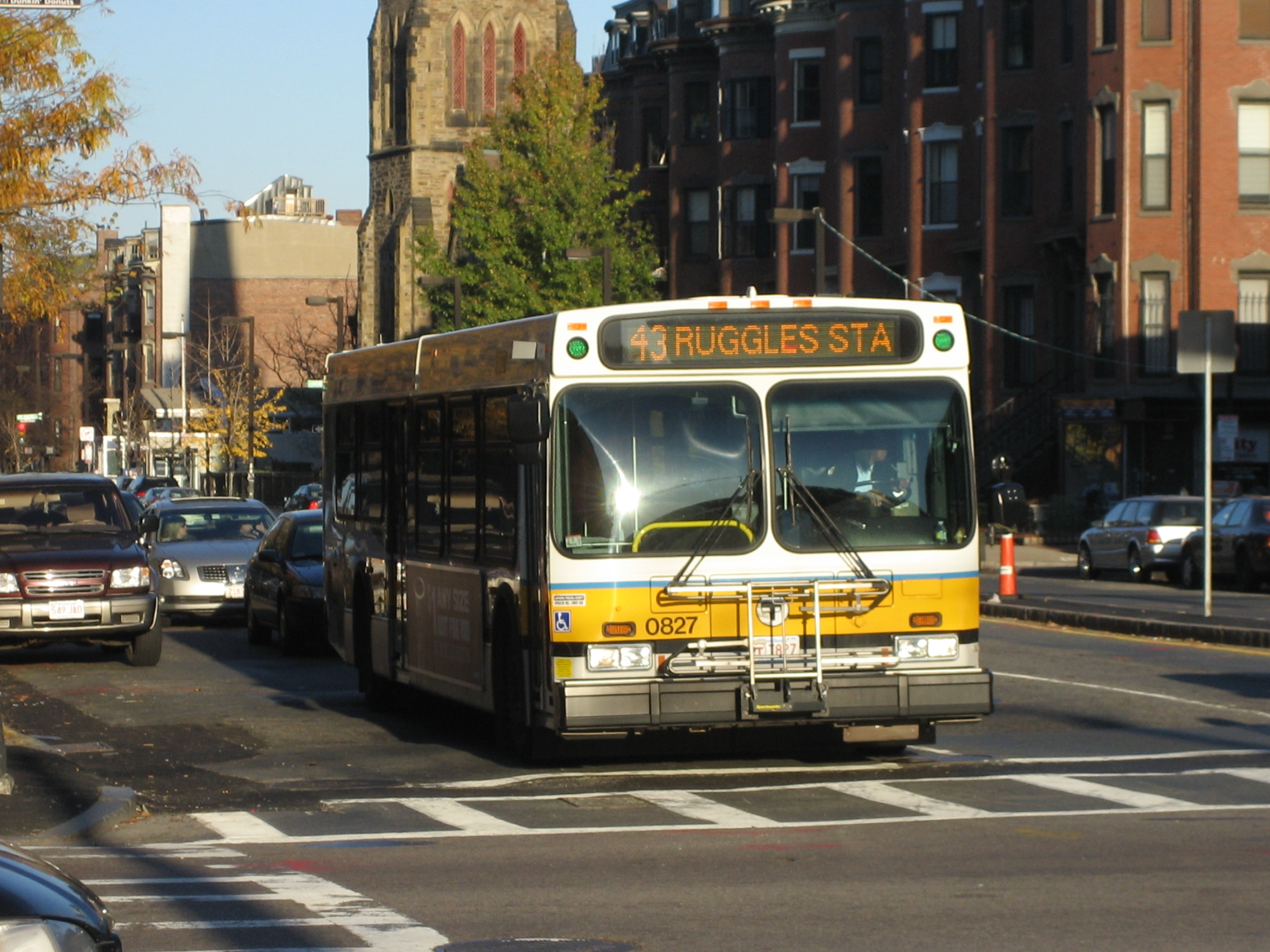 File Mbta Route 43 Bus On Tremont Street November 2009