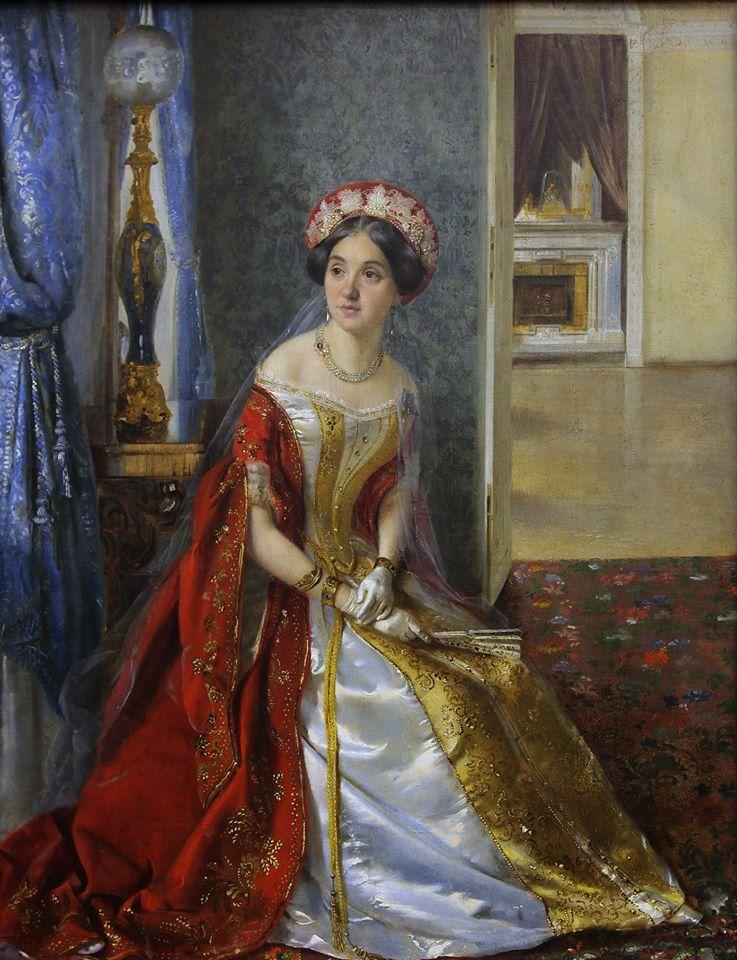 Мария Львова в русском придворном платье фрейлины
