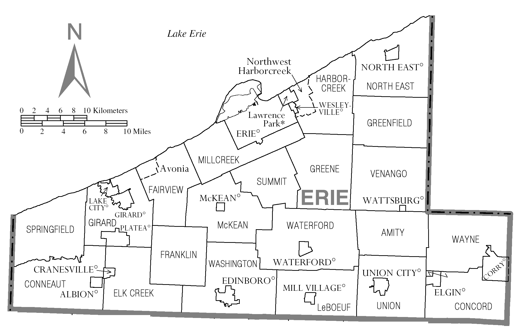 file map of erie county  pennsylvania png