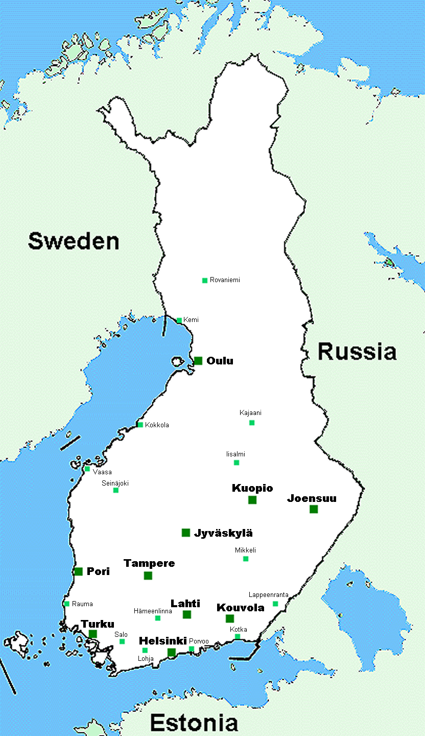 kart over finland File:Map of Finland.png   Wikimedia Commons kart over finland