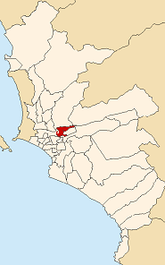 Location of El Agustino in the Lima province
