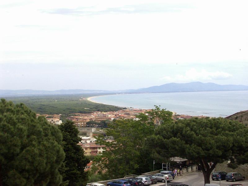 The Maremma Coast, taken from the Old Town of Castiglione della Pescaia