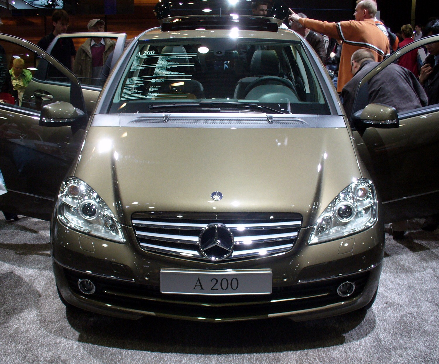 File mercedes benz w169 a200 facelift jpg wikimedia commons - Specchio mercedes classe a w169 ...