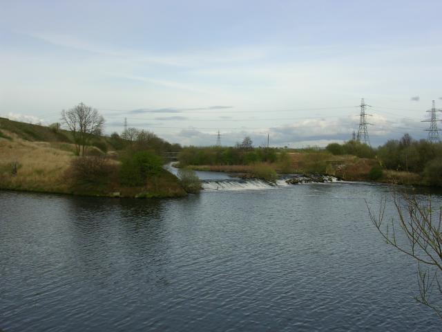 Mersey meets Manchester Ship Canal, near Irlam, Manchester - geograph.org.uk - 1550