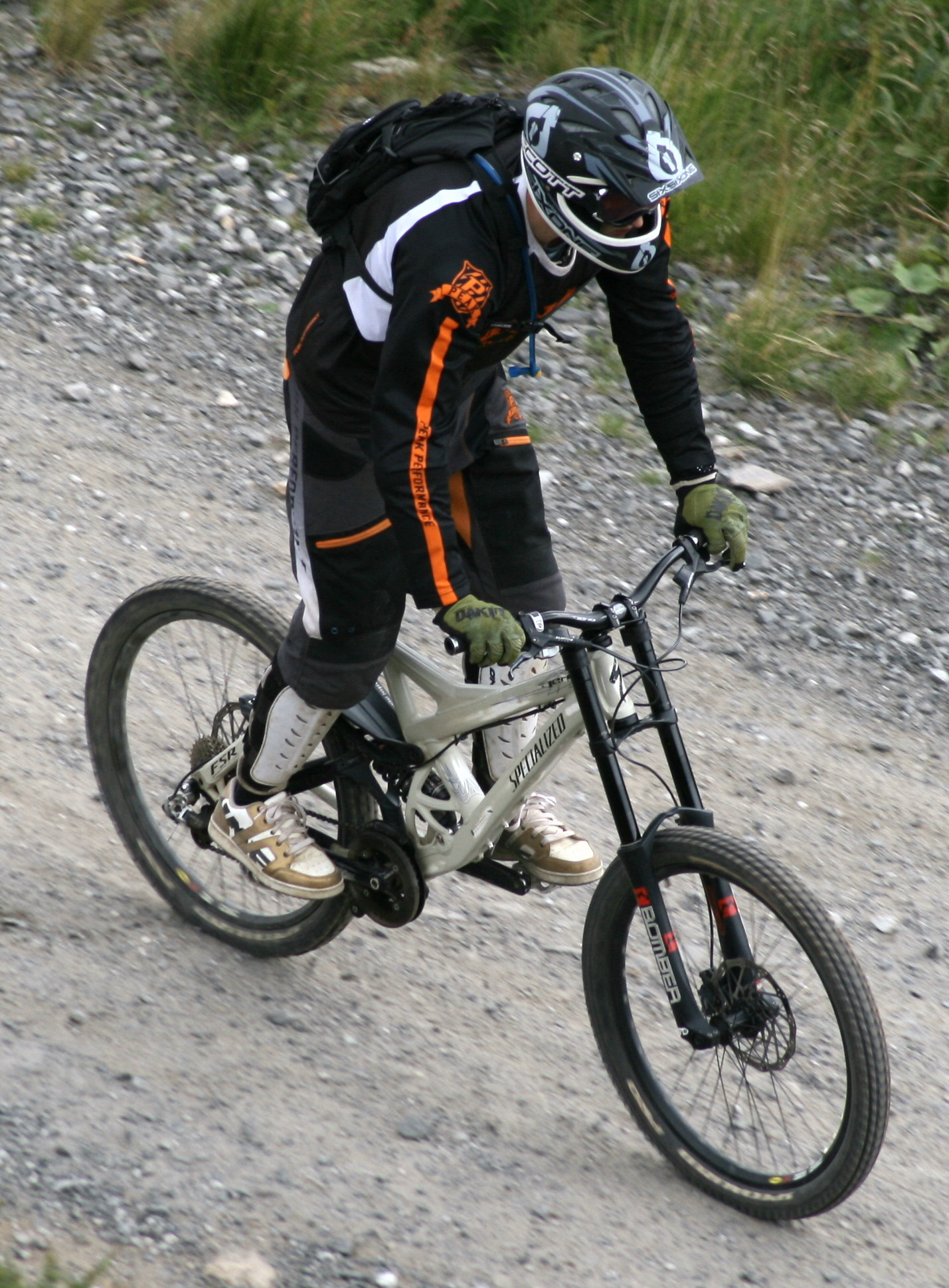 Mountain biker on a trail