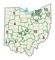 Ohio districts in these elections