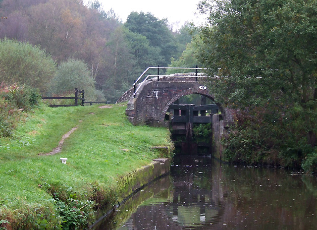 Oak Meadow Ford Bridge and Lock, Caldon Canal, Staffordshire - geograph.org.uk - 594423