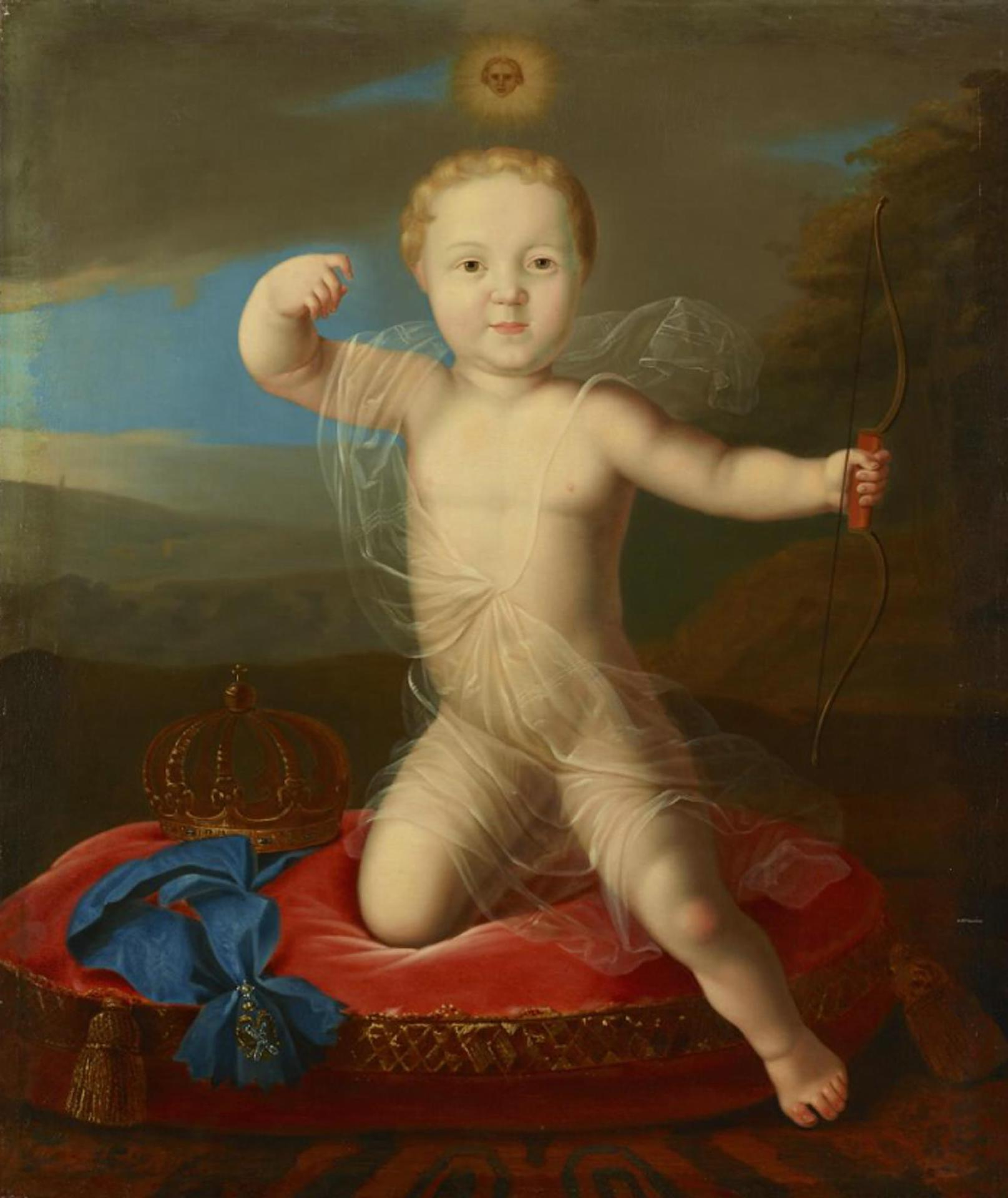 Peter Petrovich as Cupid by anonim after Caravaque (19 c., Hermitage).jpg