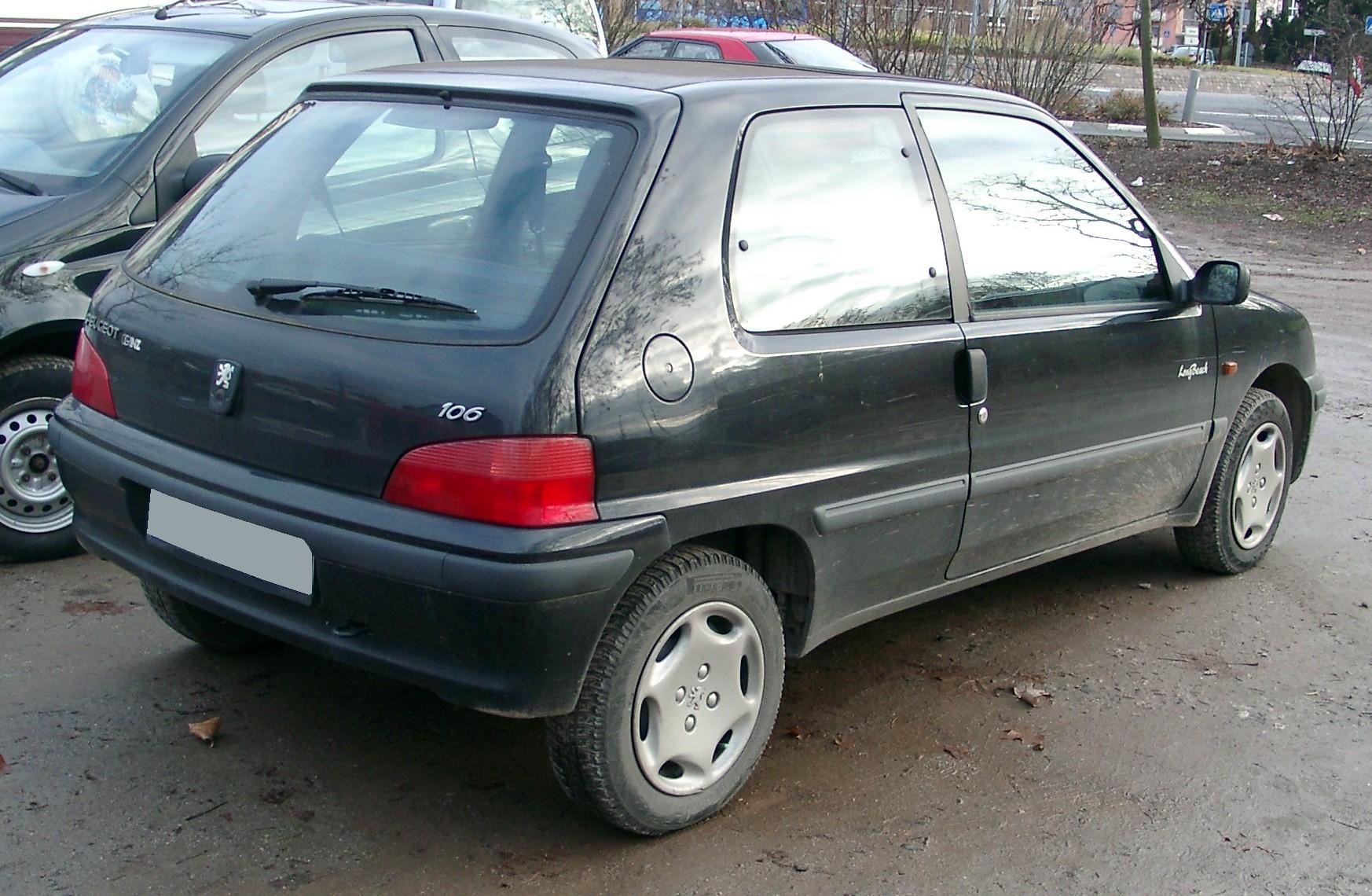 File Peugeot 106 Rear 20071205 Jpg Wikimedia Commons