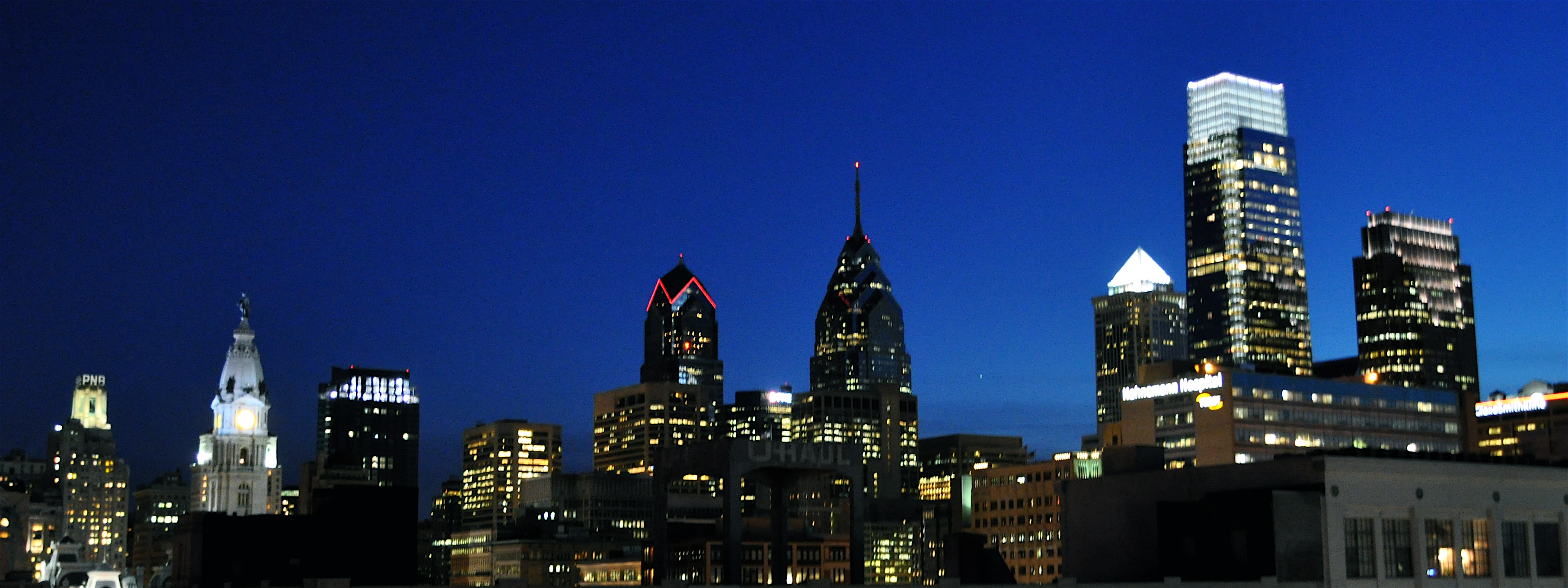 Philadelphia Skyline At Night City Hall