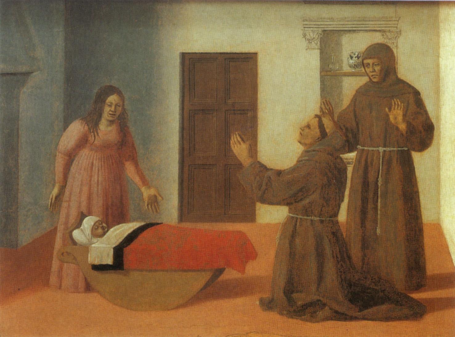 Piero della Francesca (ca 1420-92): Miracolo di Sant'Antonio da Padova (1460-1470)