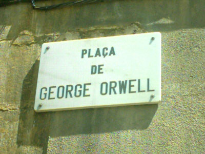 In Catalonia, a square near the Barcelona waterfront named Plaça George Orwell. Placegeorgeorwell.jpg