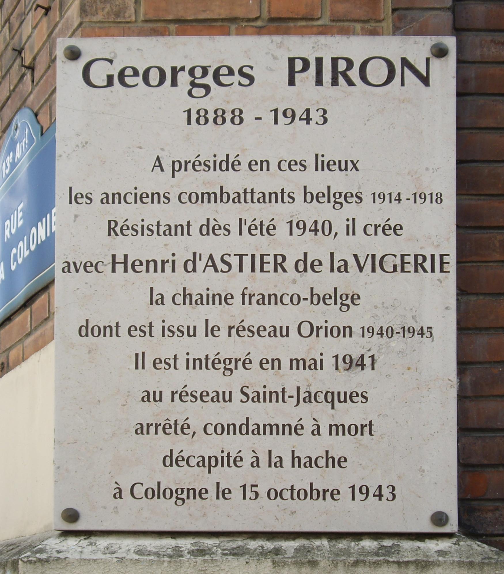 File plaque georges piron fondation de la france libre for Paris libre