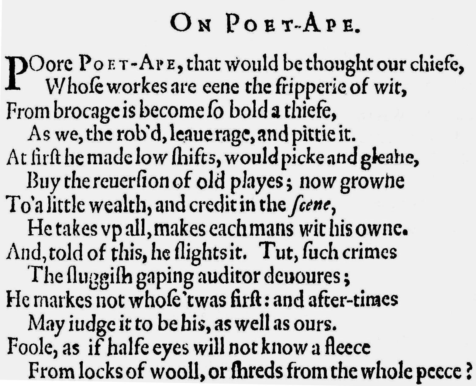 poem of shakespeare Shakespeare's sonnets the sonnets are shakespeare's most popular works, and a few of them, such as sonnet 18 (shall i compare thee to a summer's day), sonnet 116 (let me not to the marriage.