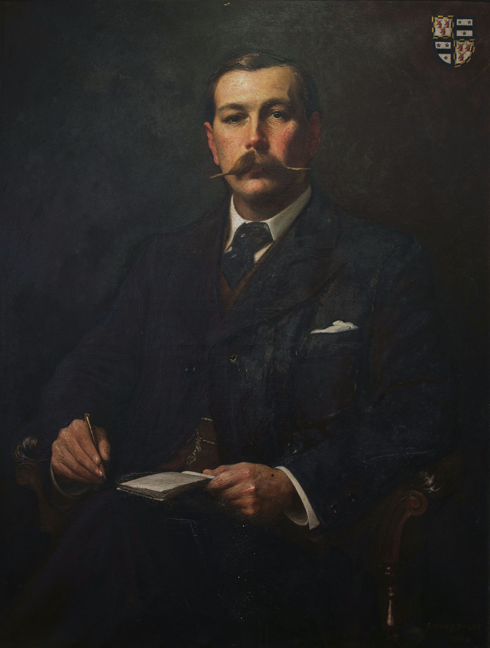 Portrait of Arthur Conan Doyle by Sidney Paget, c. 1890