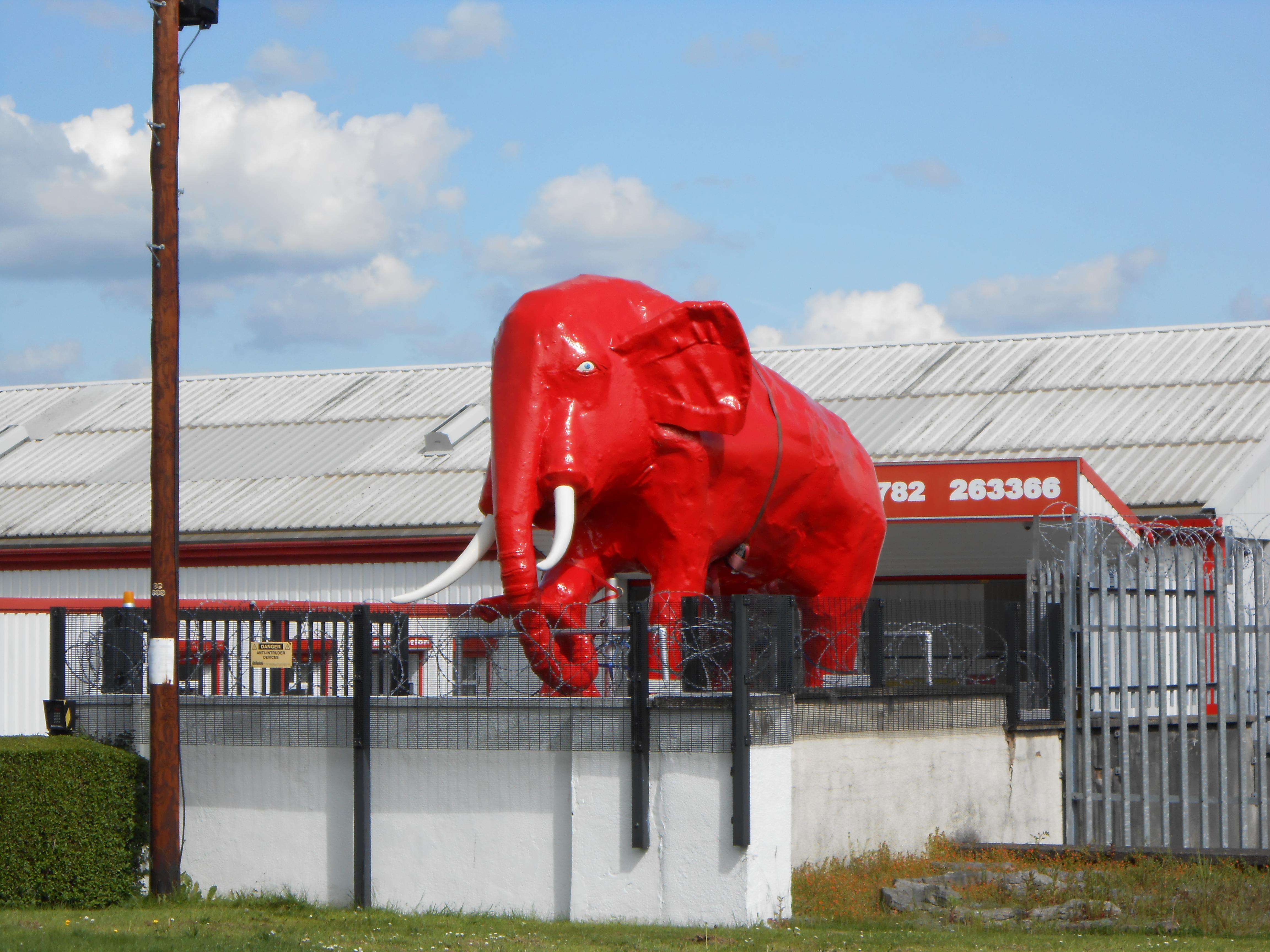 File Red Elephant Sculpture At Jumbo Self Storage Hanley