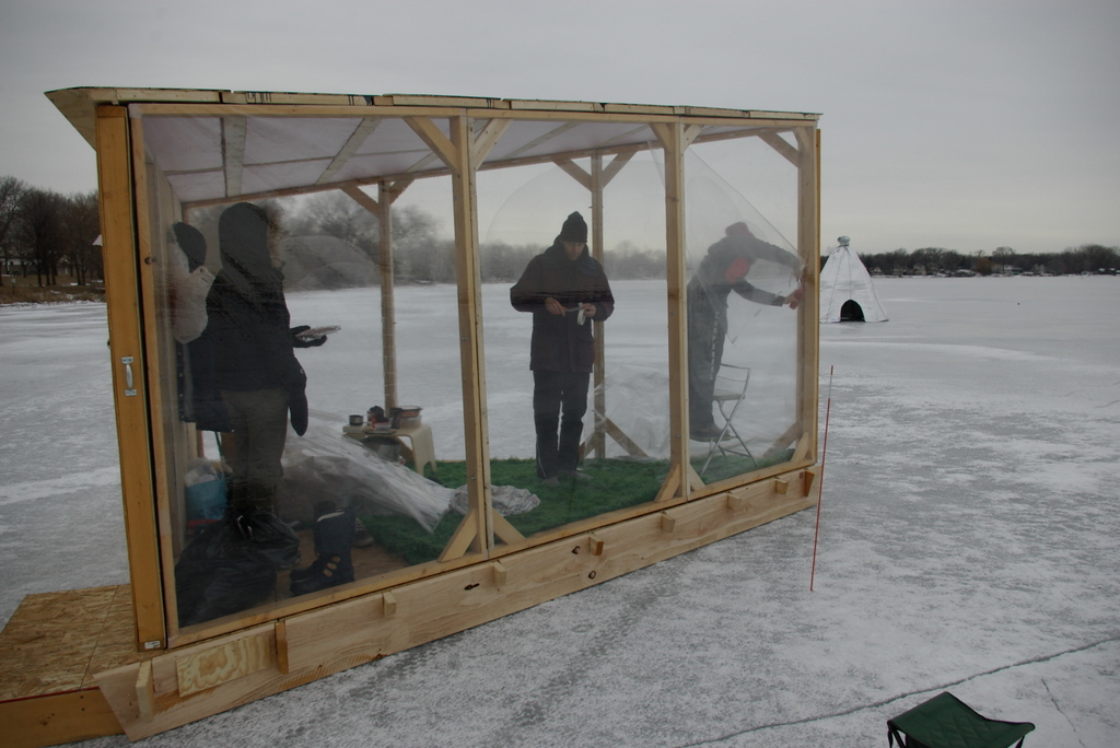 Image gallery ice fishing shanty for Ice fishing shanty