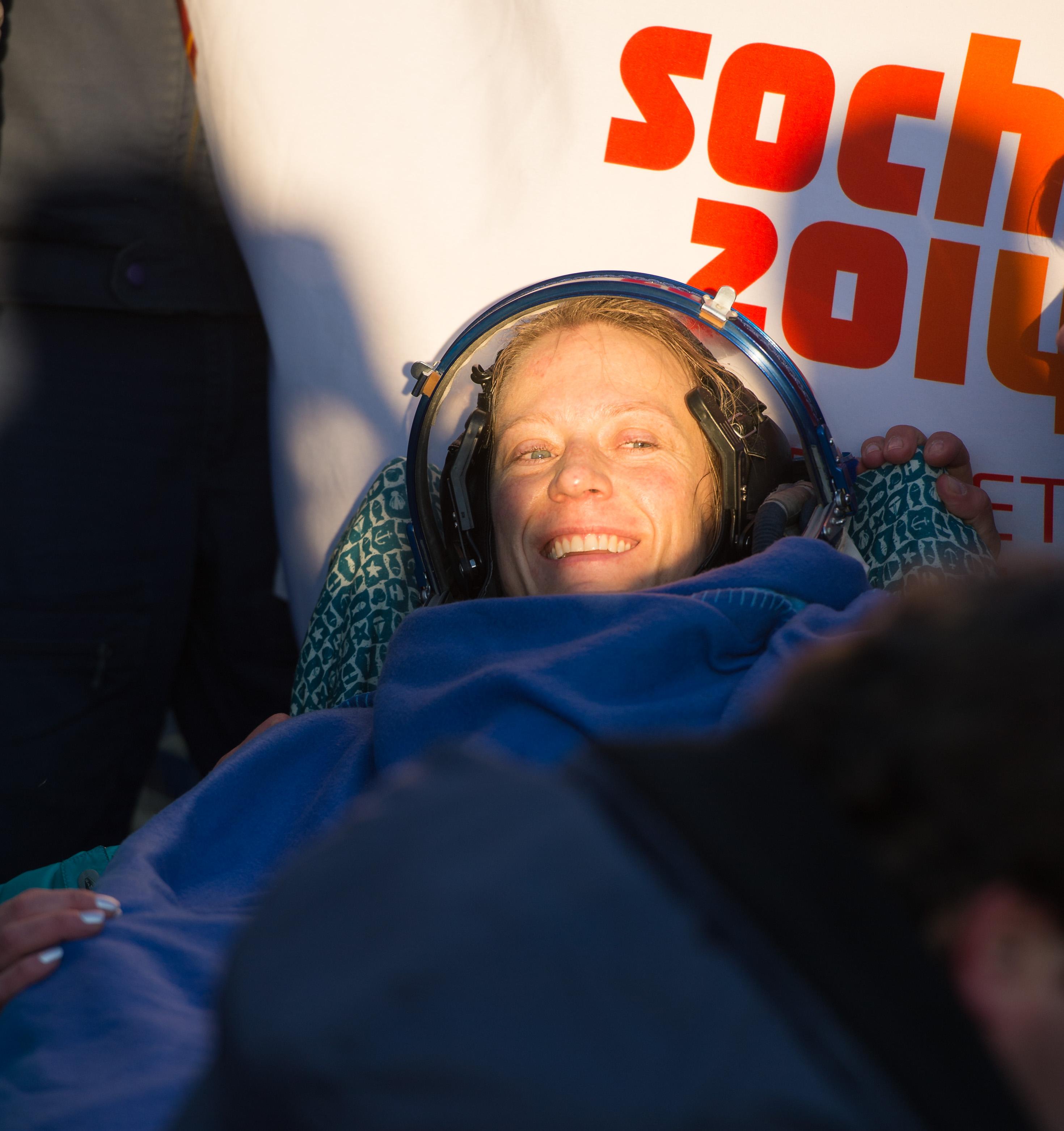 Кристина после приземления Союза