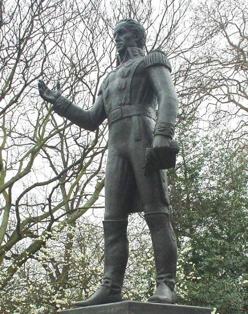 مجسمه سیمون بولیوار در میدان بلگروا، لندن.
