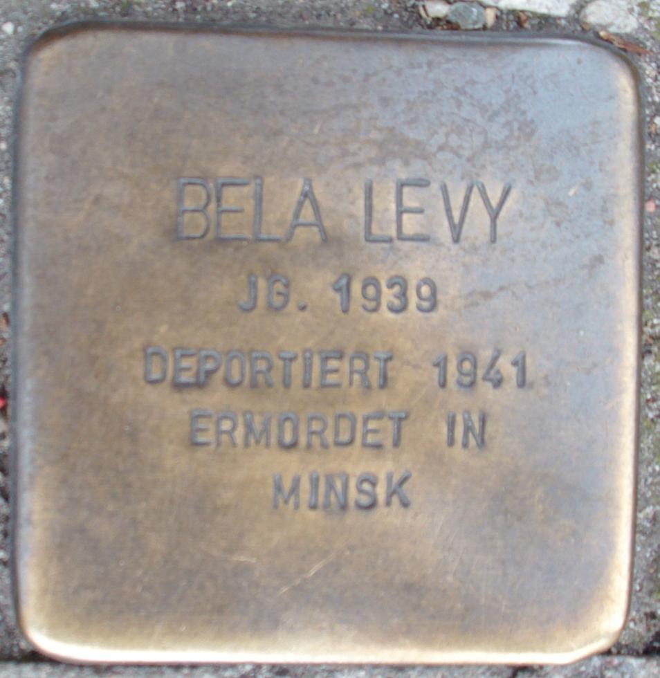 Stolperstein Brandstwiete 4 (Bela Levy) in Hamburg-Altstadt.JPG