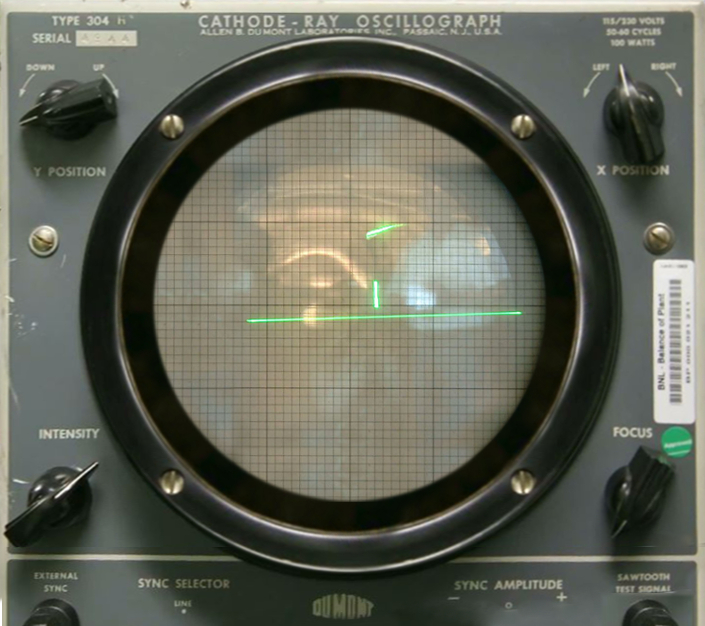 Tennis for Two, played on an oscilloscope