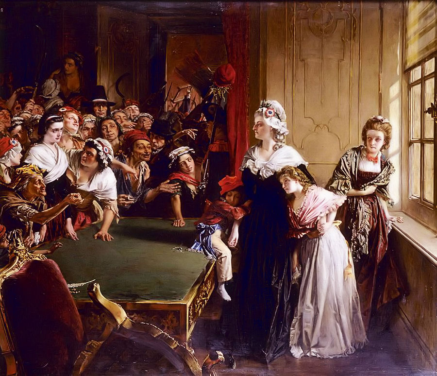 Marie Antoinette facing the mob at the Tuileries Palace, June 1792. source: Wikipedia