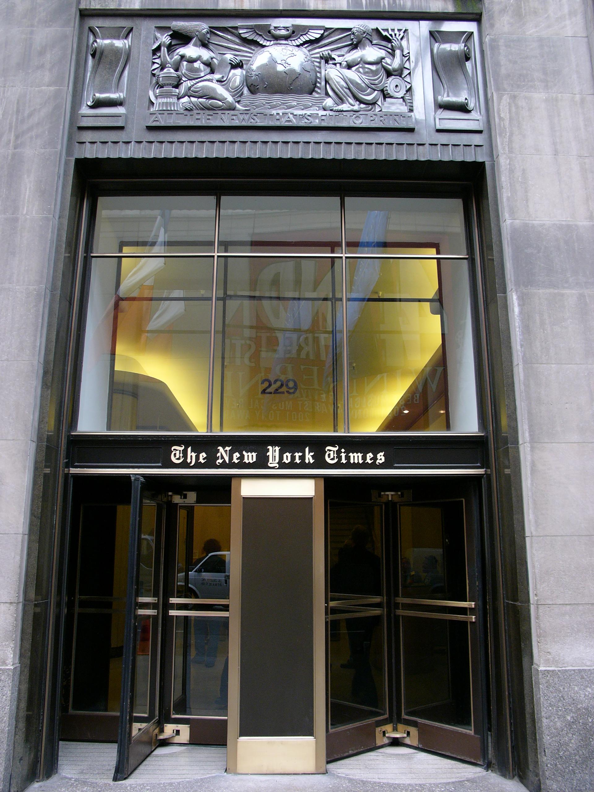 Zentrale der New York Times