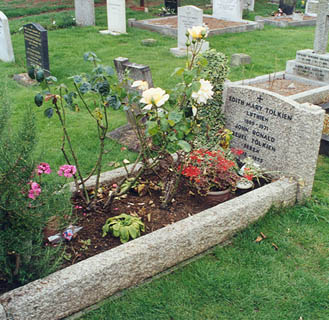 The grave of J. R. R. and Edith Tolkien, Wolve...