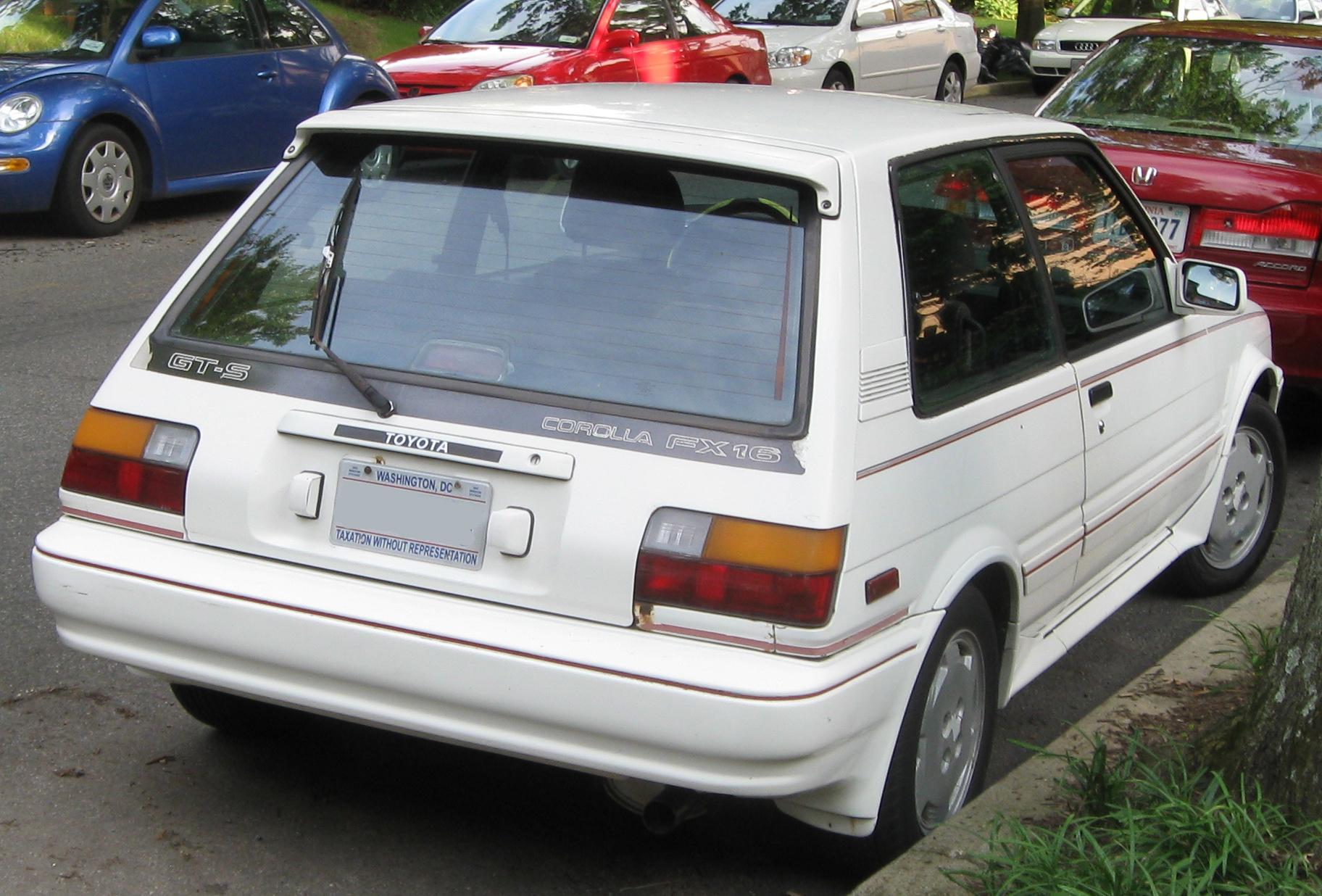 File Toyota Corolla Fx16 Gts Rear Jpg Wikimedia Commons