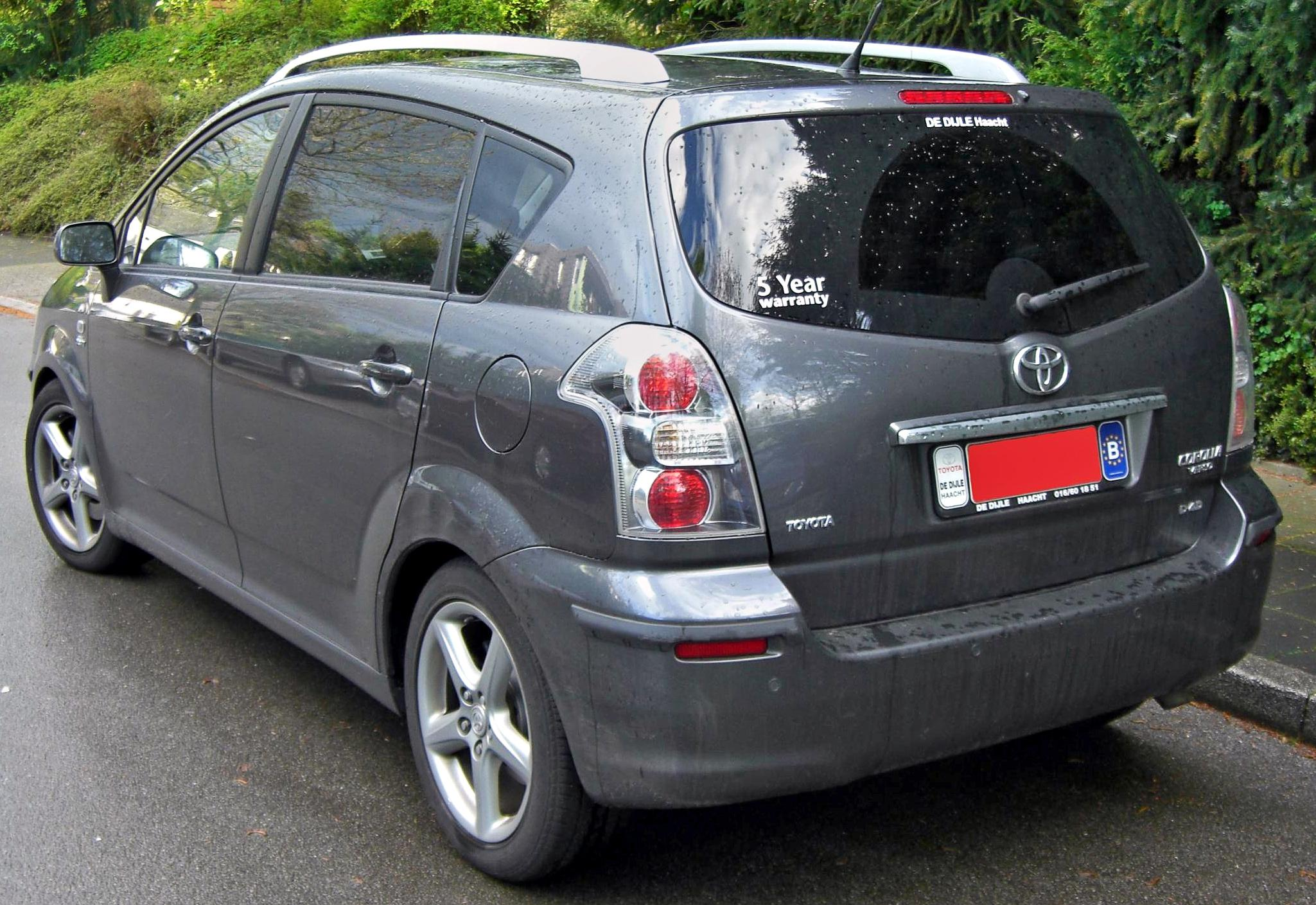 File:Toyota Corolla Verso rear.jpg  Wikimedia Commons
