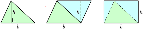 حساب مساحة المثلث هندسيا