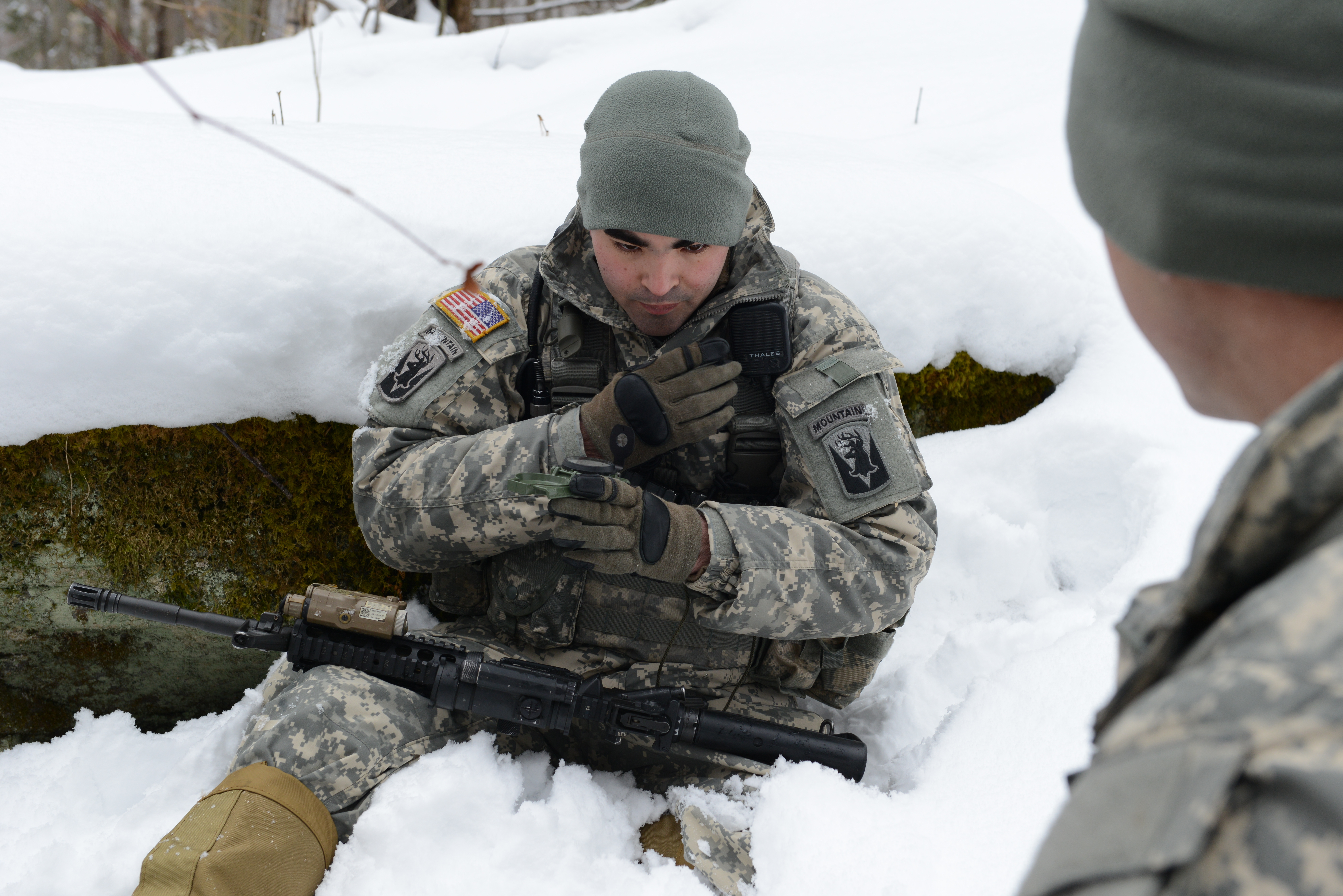 File:U.S. Army Spc. Vincent Argese with the Vermont Army National ...