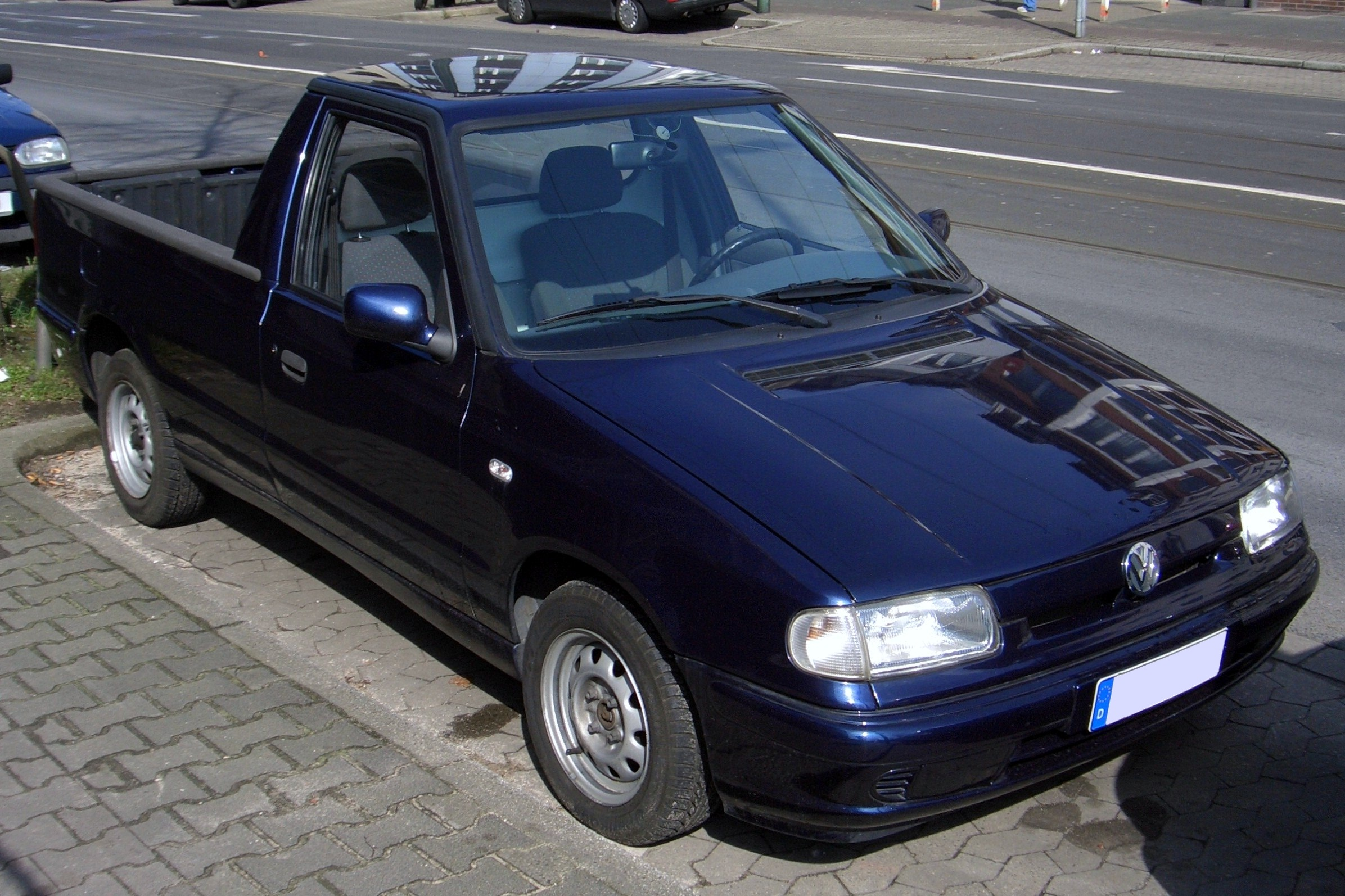 file vw caddy 9u pick up 1996 2000 frontright 2008 03 23 wikimedia commons. Black Bedroom Furniture Sets. Home Design Ideas