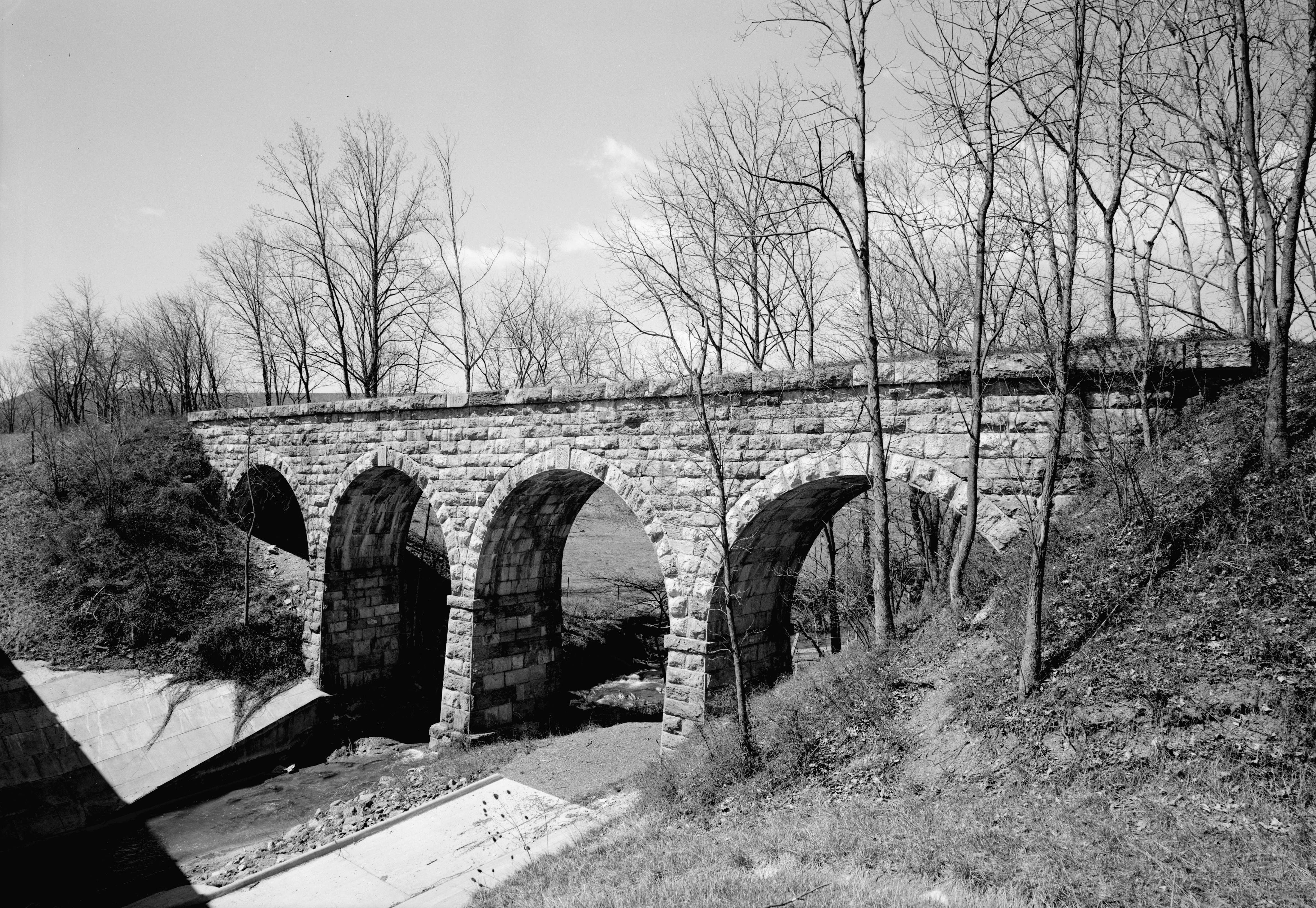 Valley Railroad Folly Mills Creek Viaduct Interstate Staunton Vicinity Augusta